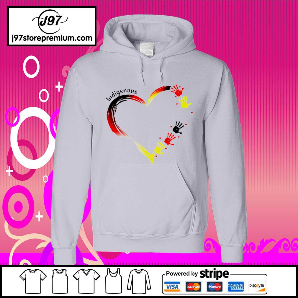 Heart indigenous hand s hoodie