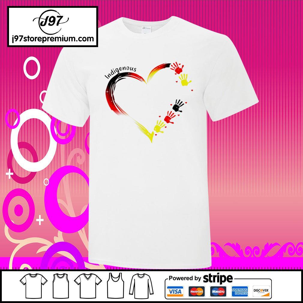 Heart indigenous hand shirt