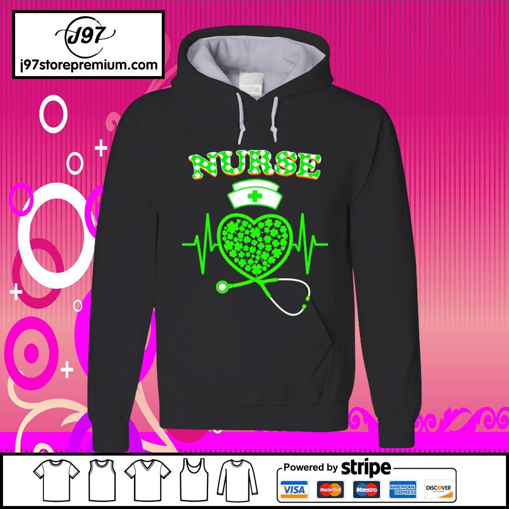 Irish Nurse Shamrock Stethoscope St.Patrick's Day 2021 s hoodie
