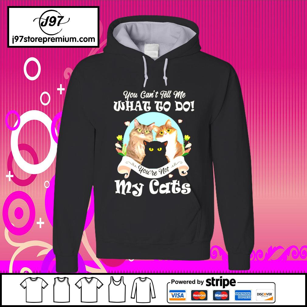 You can't tell me what to do you're not my cats hoodie