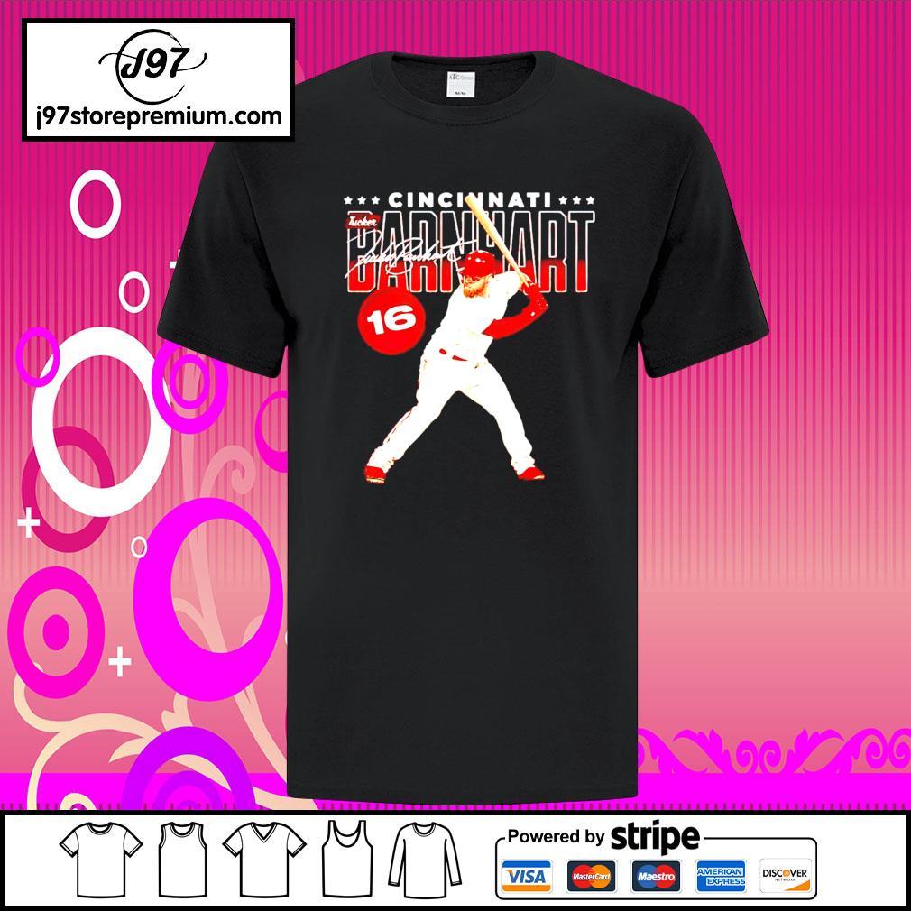 Cincinnati Baseball 16 Tucker Barnhart Swing signature shirt